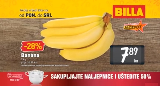 Billa akcija banane
