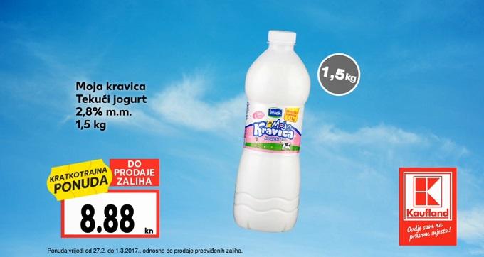 Kaufland akcija tekući jogurt