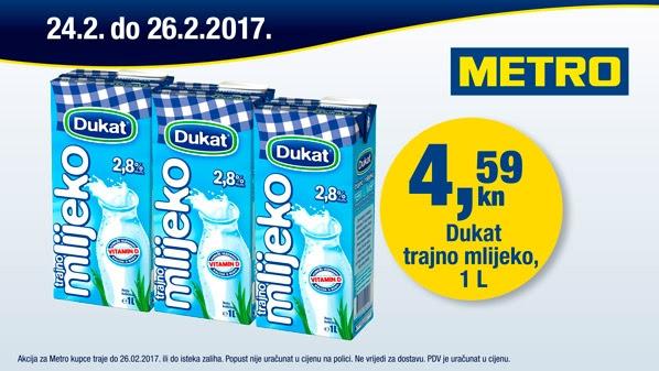 Metro vikend akcija mlijeko