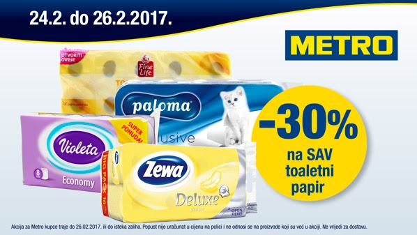 Metro vikend akcija toaletni papir
