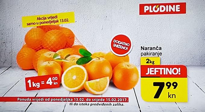 Naranče pakiranje