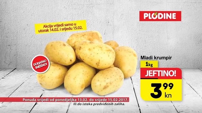Plodine akcija mladi krumpir