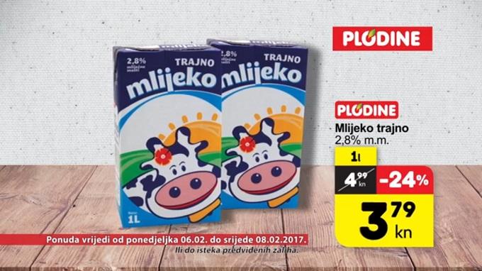 Plodine akcija mlijeko