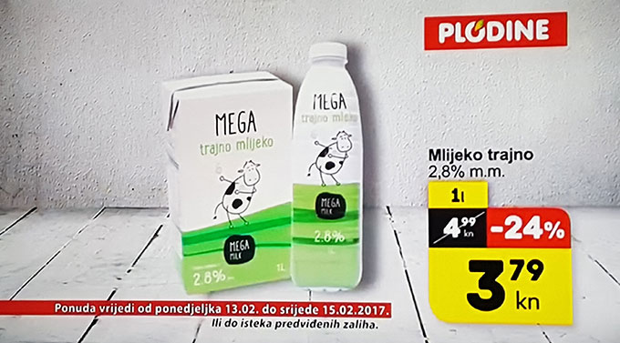 Trajno mlijeko Mega
