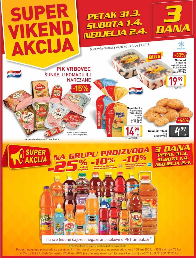 Billa vikend akcija