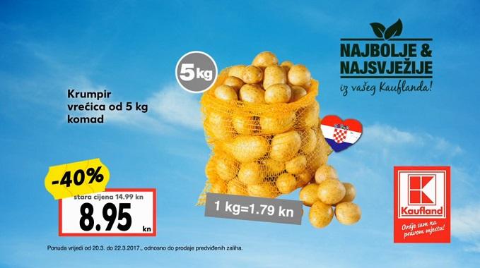 Kaufland akcija krompir