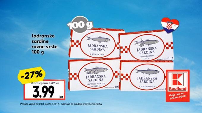Kaufland akcija sardine konzerva