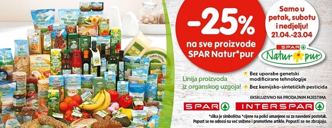 Spar Natur proizvodi akcija