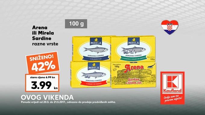 Kaufland vikend akcija sardine