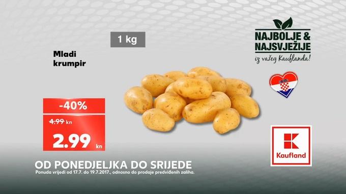 Kaufland akcija mladi krumpir