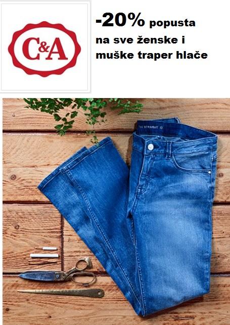 C&A akcija traper hlače
