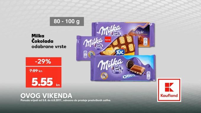 Kaufland vikend akcija Milka čokolada