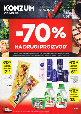 Konzum katalog -70% na drugi proizvod