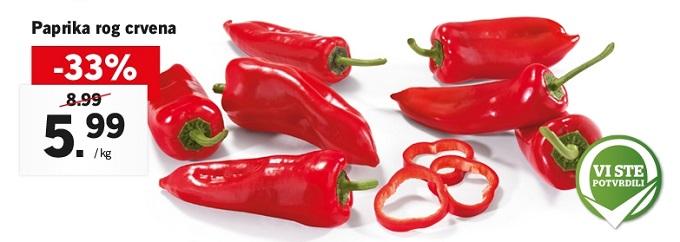 Lidl akcija paprika roga