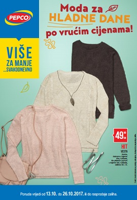 Pepco katalog Moda za hladne dane