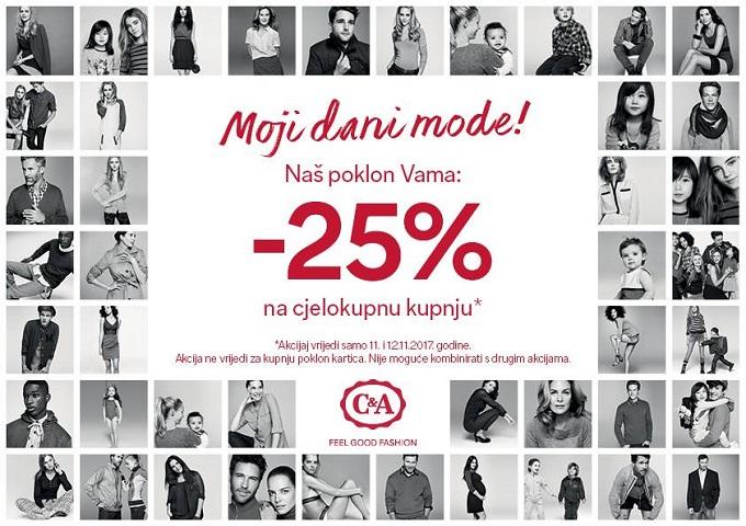 C&A akcija -20% popusta na sve