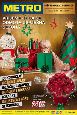 Metro katalog božićne dekoracije i igračke