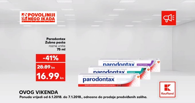 Kaufland vikend akcija paradontax