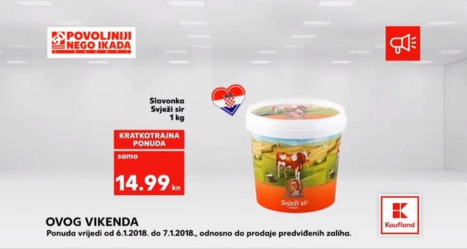 Kaufland vikend akcija svježi sir