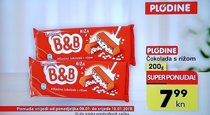 Plodie akcija čokolada