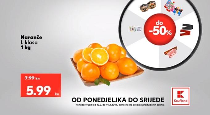 Kaufland akcija naranča