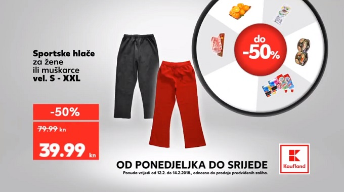 kaufland akcija sportske hlače