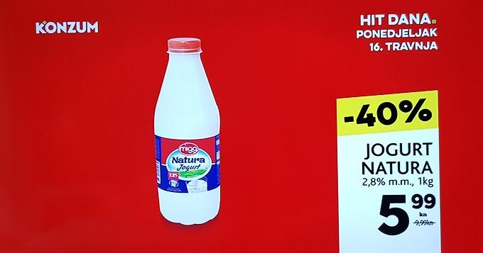 Konzum Hit dana jogurt