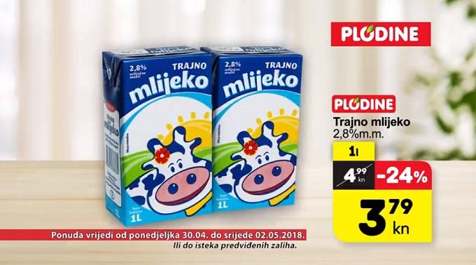Plodine akcija trajno mljeko