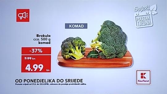 Kaufland akcija brokula