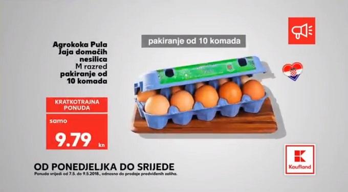 Kaufland akcija jaja
