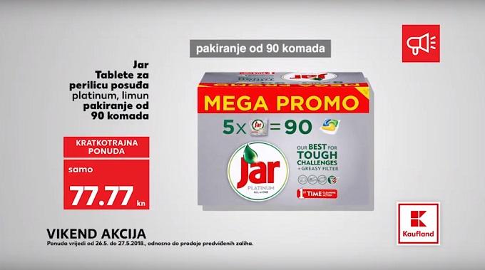 Kaufland vikend akcija Jar tablete za perilicu