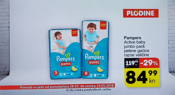 Plodine akcija Pampers pelene