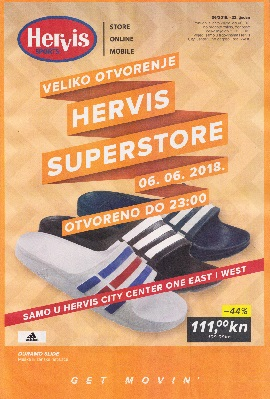 Hervis katalog City Center One Zagreb do 11.6.