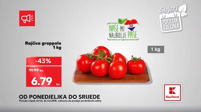 Kaufland akcija rajčica grapolo