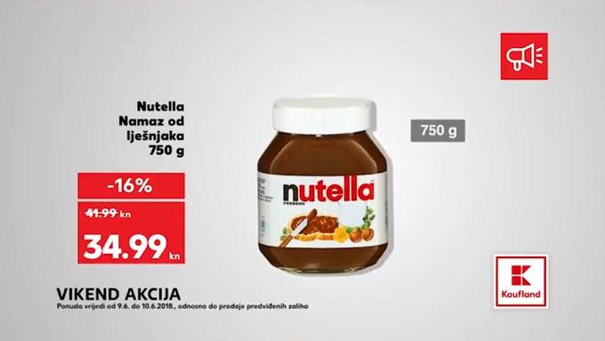 Kaufland vikend akcija Nutella
