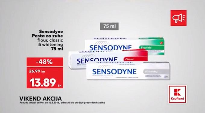 Kaufland vikend akcija Sensodyne pasta