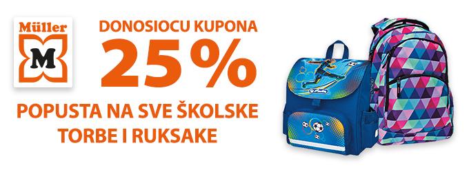 Muller kupon školske torbe i ruksaci