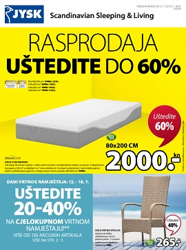 JYSK katalog Rasprodaja