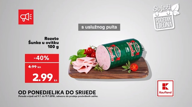 Kaufland akcija Rozeto šunka