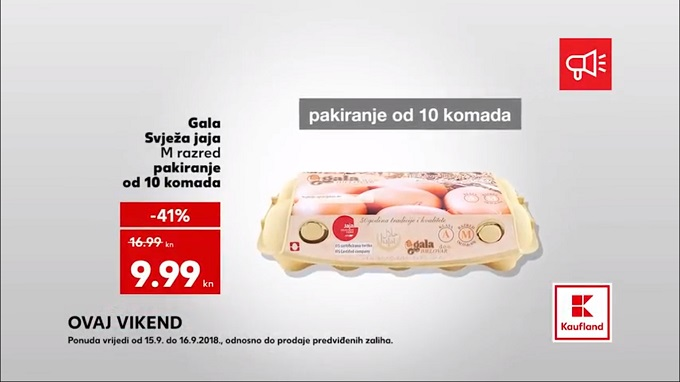 Kaufland vikend akcija jaja