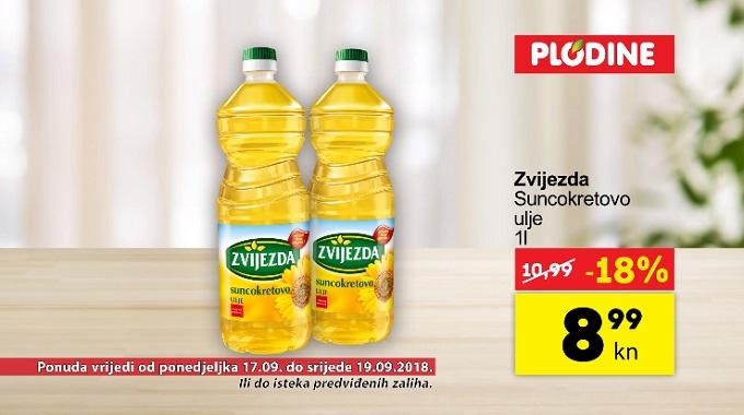Plodine akcija suncokretovo ulje