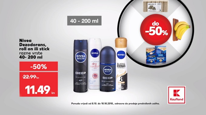 Kaufland akcija Nivea dezodorans