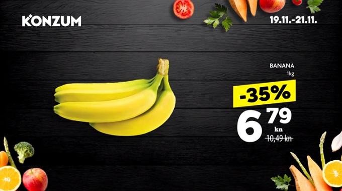 Konzum akcija banane