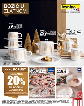 Lesnina katalog Božić u zlatnom