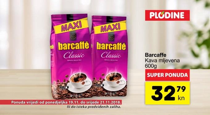 Plodine akcija Barcaffe kava
