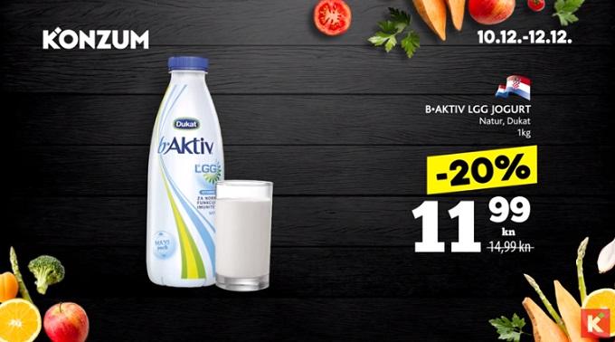 Konzum akcija b aktiv jogurt