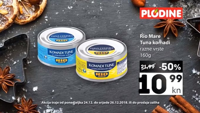 Plodine akcija tuna Rio mare