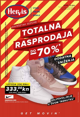 Hervis katalog Totalna rasprodaja do -70%