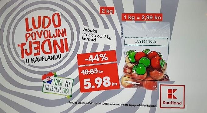 Kaufland akcija jabuke