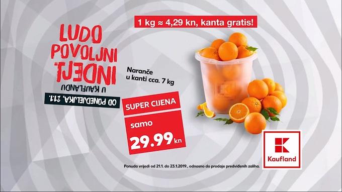 Kaufland akcija naranče u kanti
